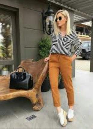 Брюки джинсы светло-коричневые