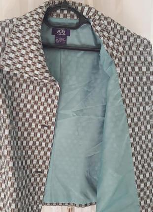 Пиджак жакет от jds клетка  тиффани микс цветов6 фото