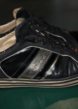 Итальянские туфли-кроссовки премиум класса hogan.37 разм. 24см.кожа.