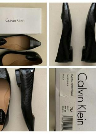 Sale❗❗❗шикарные балетки -лодочки,еmerin patent snake calvin klein,туфли