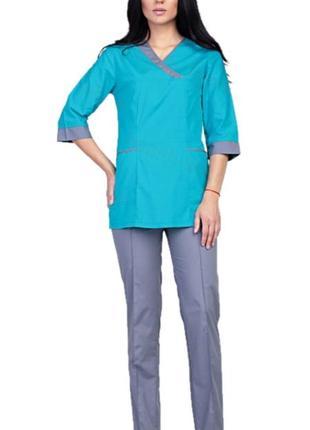 Костюм медицинский, батист, р. 42-60; женская медицинская одежда, 892269