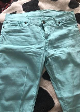 Мятные джинсы denim