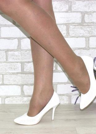 Свадебные туфли.  женские белые туфли лодочки