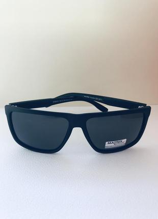 Очки солнцезащитные мужские матовые вайфарер polarized