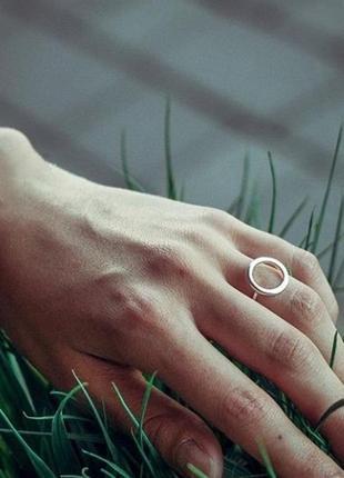 Серебряное кольцо круг, серебро, срібна каблучка, срібний перстень, срібне, срібло
