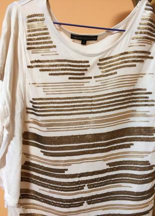 Красивая оверсайз футболка с пайетками limited cоllection