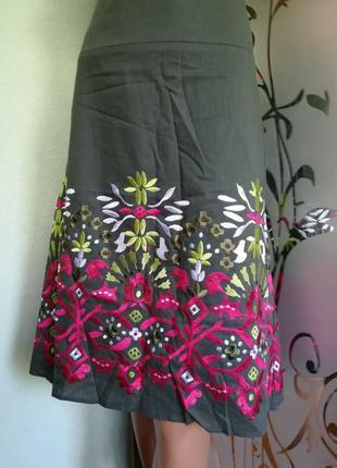 Натуральная юбка с вышивкой от monsoon