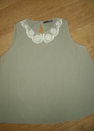 Блуза с воротничком большой размер