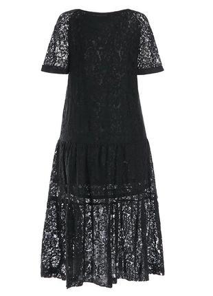 Zanzea кружевное винтажное платье свободное макси в стиле бохо от с до 5 хл6 фото