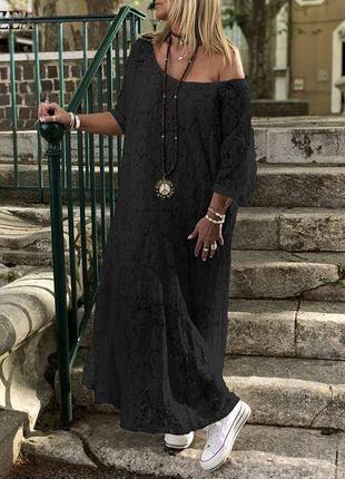 Zanzea кружевное винтажное платье свободное макси в стиле бохо от с до 5 хл3 фото