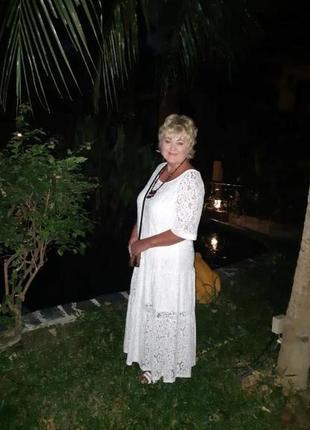 Zanzea кружевное винтажное платье свободное макси в стиле бохо от с до 5 хл7 фото