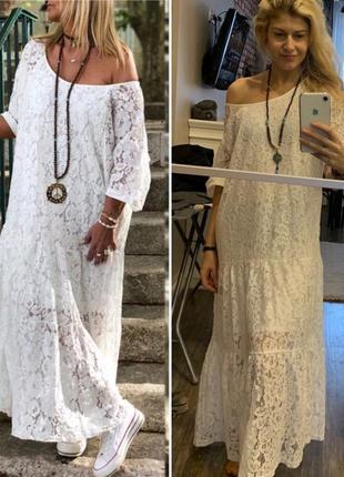Zanzea кружевное винтажное платье свободное макси в стиле бохо от с до 5 хл4 фото