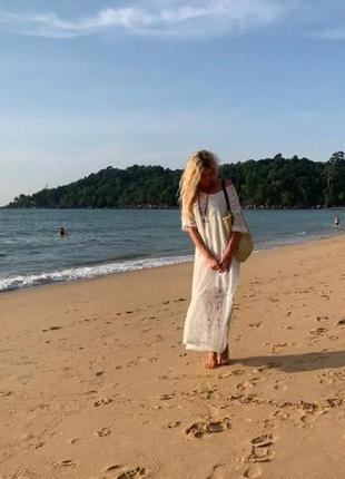 Zanzea кружевное винтажное платье свободное макси в стиле бохо от с до 5 хл5 фото