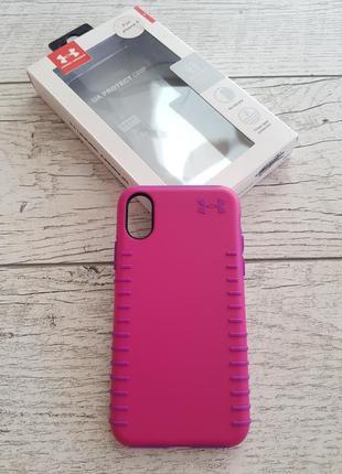 Противоударный, защитный чехол under armour ua protect grip pink для iphone x/xs
