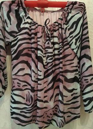 Блуза/блузон на трикотажной подкладке большого размера