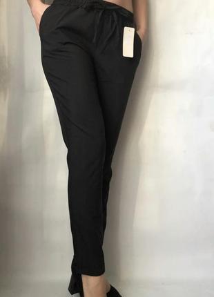Новые летние брюки женские черные софт