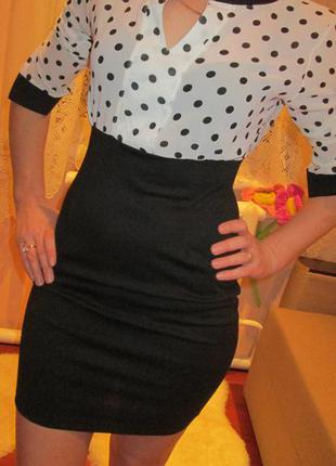 Платье в горошок италия