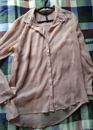 Шифоновая блуза stradivarius