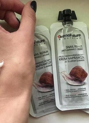 Восстанавливпющий крем от морщин с муцином улитки, 12мл