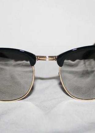 Зеркальные очки ray ban clubmaster 3016