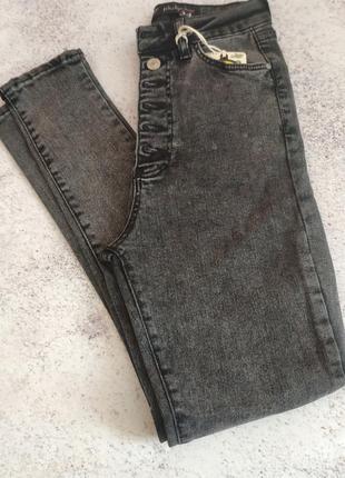 Хит сезона! графитовые джинсы американка, высокая посадка5 фото