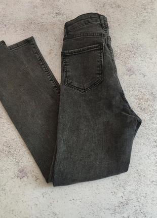 Хит сезона! графитовые джинсы американка, высокая посадка6 фото