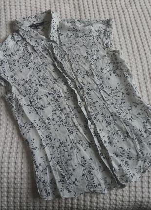 Базовая натуральная котоновая шелковая рубашка блуза блузка