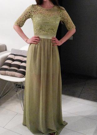 Красивое длинное вечернее выпускное платье
