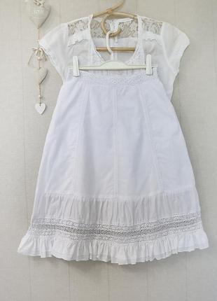 Шикартная белоснежная юбочка с ажурными вставками