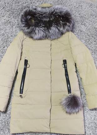 Продам зимнюю куртку в отличном состоянии с мехом песца.
