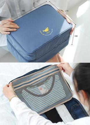 Дорожная сумка-органайзер для путешествий (на чемодан)