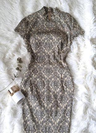 Золотое платье в азиатском стиле