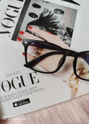 Очки окуляри компьютерные для чтения  унисекс черные матовые новые