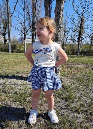 Летний костюм для девочек 3-8лет