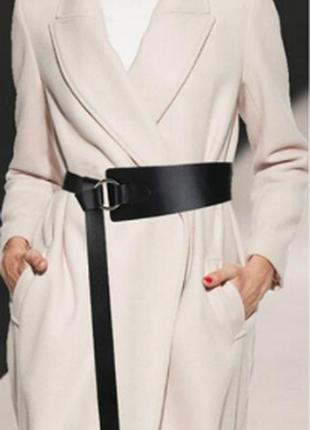 Ремень ремінь пояс длинный ассиметричный черный на талию длинный качественный эко кожаный
