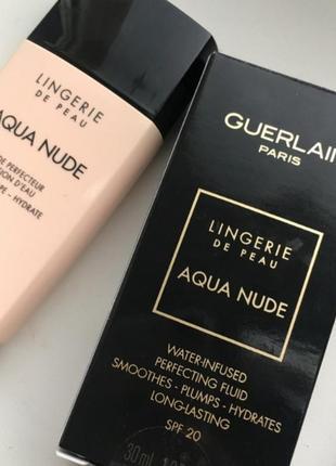 🔥🔥🔥тональный флюид guerlain lingerie de peau aqua nude  very light warm №01w
