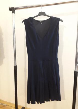 Mango. платье с плиссированной юбкой. трикотаж. размер с