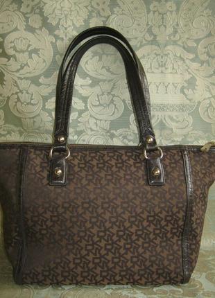 Американский бренд сумка тоут кожаная отделка женская кожа текстиль