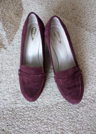 Замшевые туфли солди