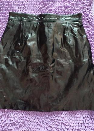 Кожанная юбка (очень качественный кожзам)