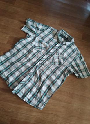 Рубашка мужская женская унисекс в клетку