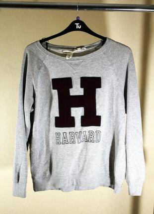 "Женский серый свитшот ""harvard""  h&m размер м"