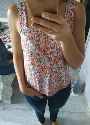Легкая летняя блуза топ вискоза новая