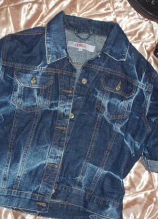 Стильная укороченная джинсовая куртка s.oliver