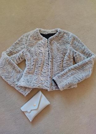 Меховый жакет накидка куртка пиджак