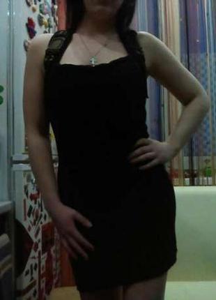 Оригинальное черное платье, туника, м