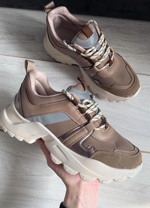 Красивенные кроссовки, коричневые кроссовки