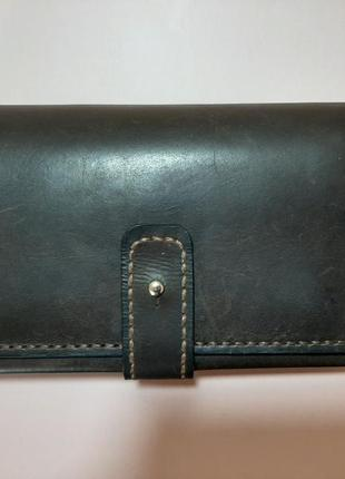 Кожаный мужской портмоне ручной работы