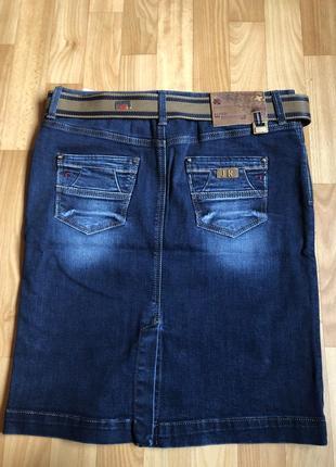 Джинсовые юбки больших размеров