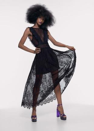Новое мега стильное платье от zara размер м